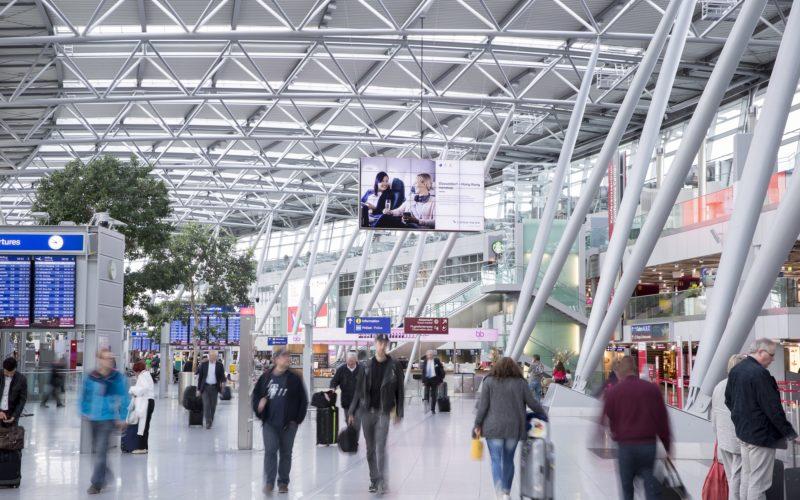 Ein Blick in die Abflugebene des Terminals am Düsseldorfer Flughafen. Foto: Andreas Wiese/Flughafen Düsseldorf
