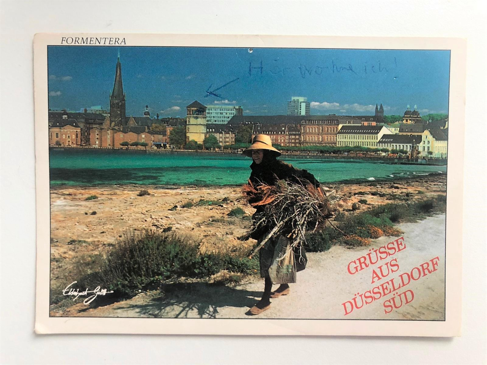 Postkarte Grüße aus Düsseldorf-Süd