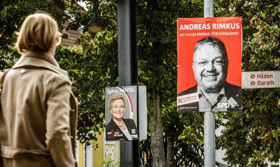 Wahlplakate SPD und CDU