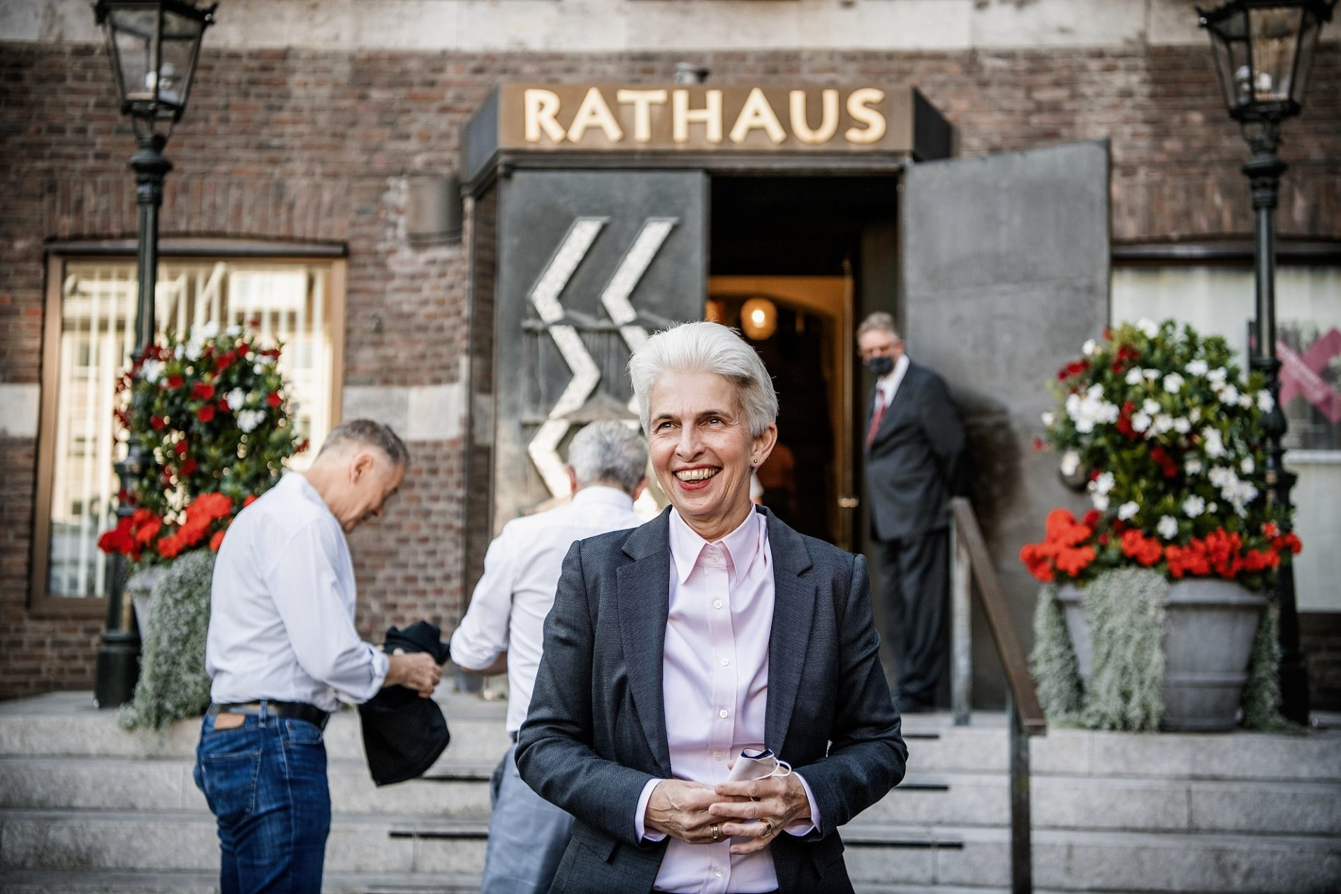 Seit 2017 sitzt Marie-Agnes Strack-Zimmermann im Bundestag. Ihr Mandat im Stadtrat hat sie behalten, deshalb ist sie weiter regelmäßig im Düsseldorfer Rathaus. Foto: Andreas Endermann