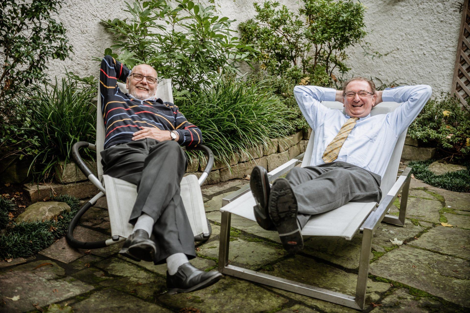 Der Ruhestand gefällt ihnen offensichtlich: Egbert Casten (links) und Johannes Horn. Foto: Andreas Endermann