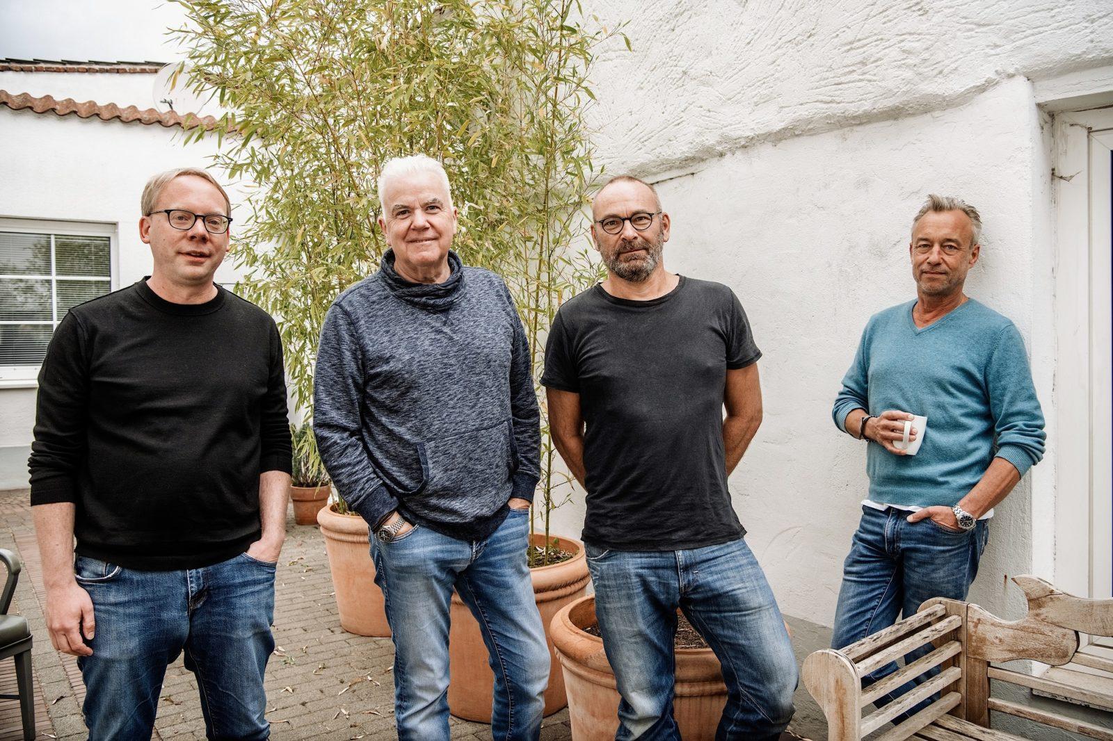 Die Gründer von VierNull (von links): Christian Herrendorf, Hans Onkelbach, Andreas Endermann und Boris Bartels. Foto: Andreas Endermann