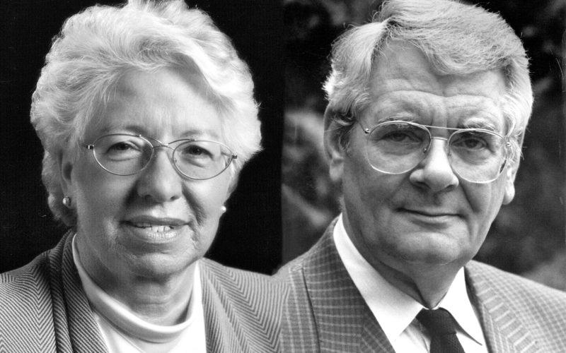 Zwei frühere SPD-Stadtoberhäupter: Marlies Smeets und Klaus Bungert. Fotos: Stadtarchiv Düsseldorf